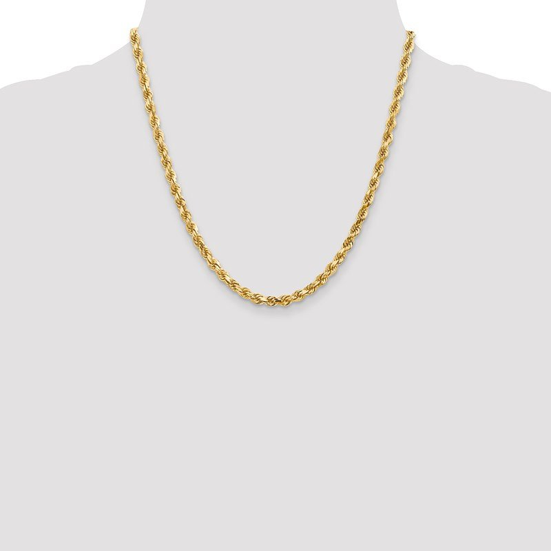 Leslie's Leslie's 14K 4.50mm Diamond-Cut Rope Chain
