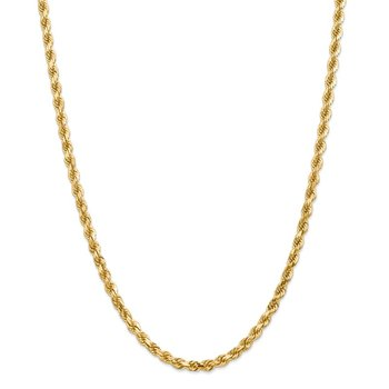 Leslie's 14K 5.0mm Diamond Cut Rope Chain