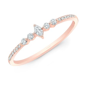 Rose Gold Dainty Marquise Ring