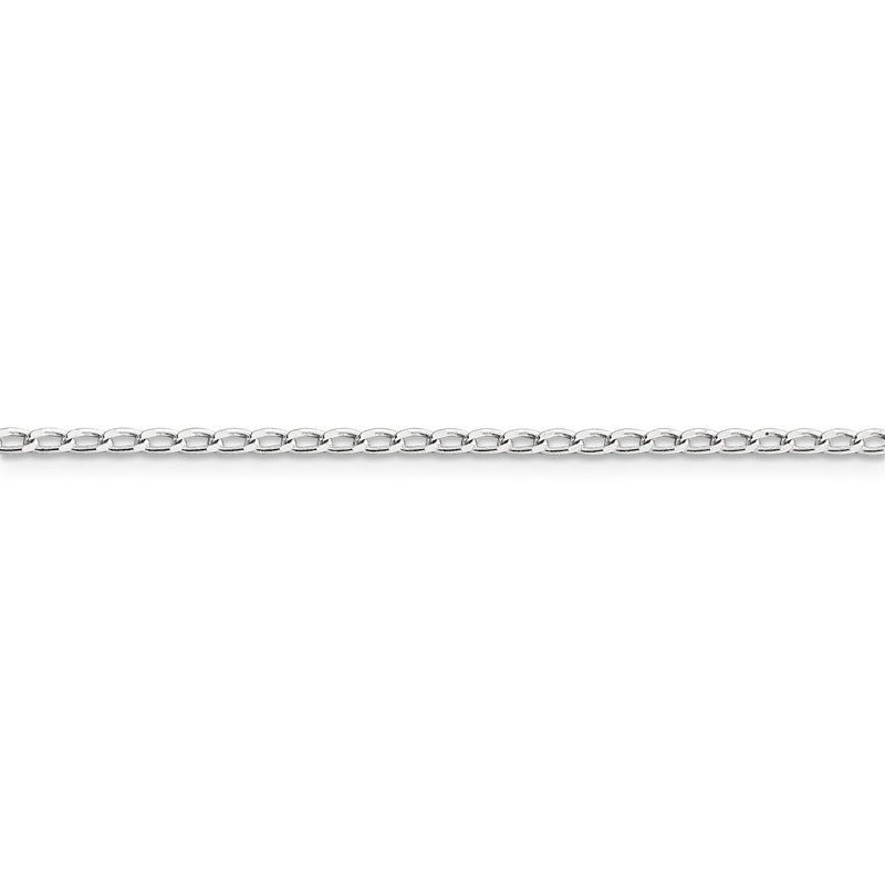 Quality Gold Sterling Silver 2mm Open Elongated Link Chain Anklet