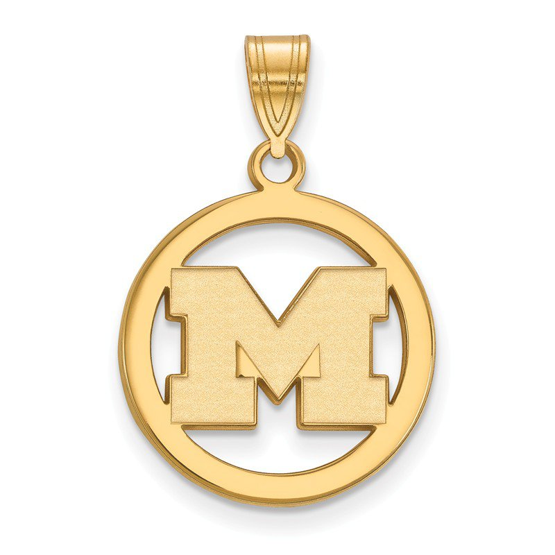 NCAA Gold-Plated Sterling Silver University of Michigan NCAA Pendant