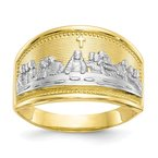 Quality Gold 10k & Rhodium Ladies Last Supper Ring
