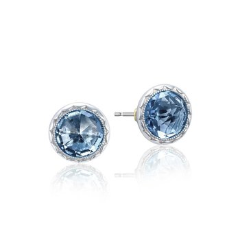 Bezel Studs featuring London Blue Topaz