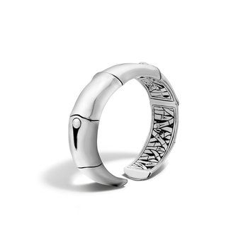 Bamboo 16MM Kick Cuff in Silver