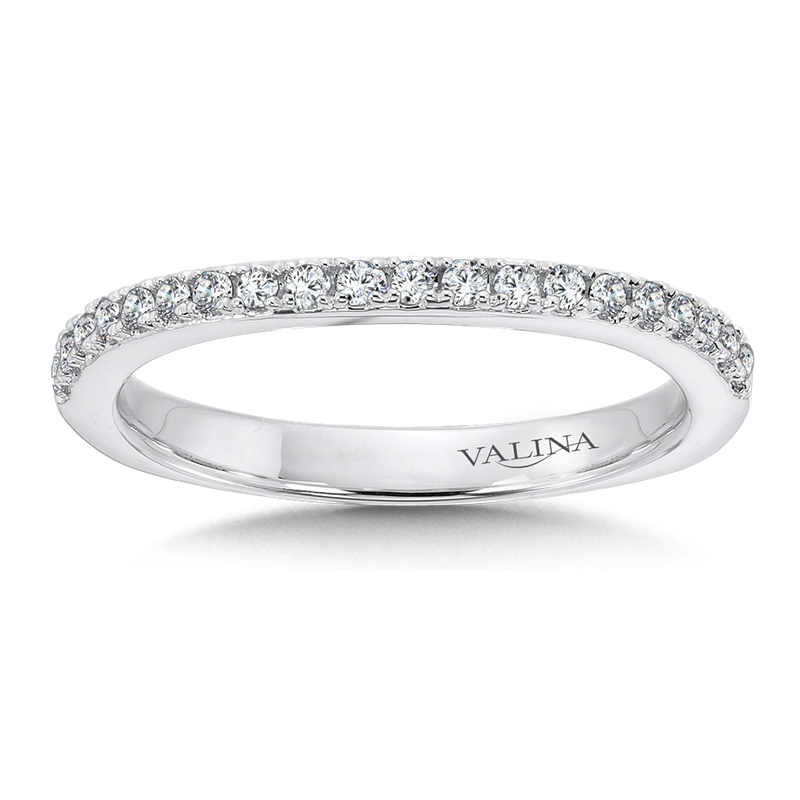 Valina Diamond and 14K White Gold Wedding Ring
