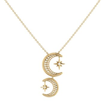 Twin Nights Necklace in 14 KT Yellow Gold Vermeil on Sterling Silver