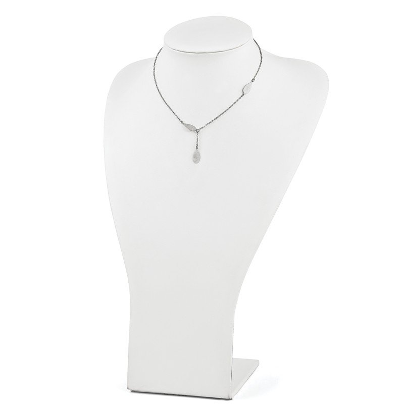 Leslie's Leslie's Sterling Silver Brushed Teardrop Necklace