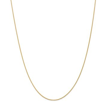 14k 1mm Parisian Wheat Chain Anklet