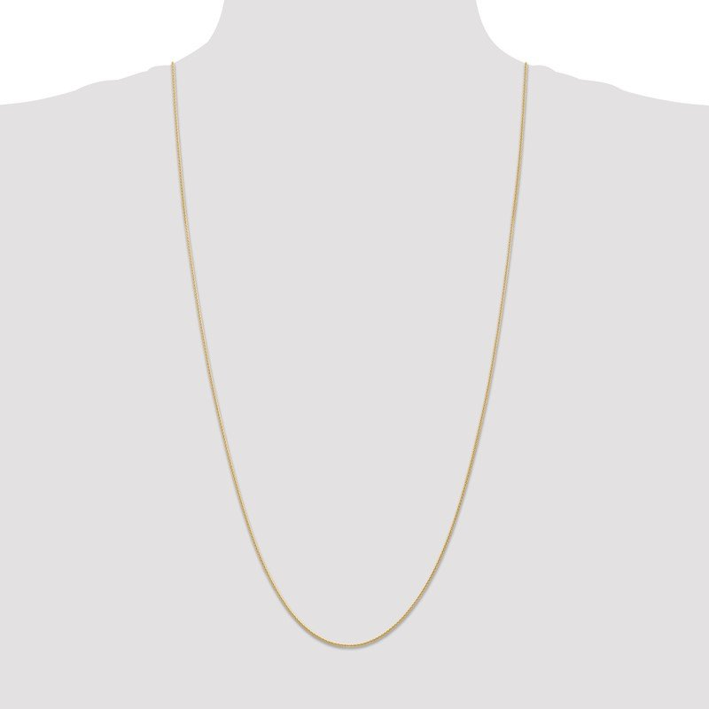 Quality Gold 14k 1mm Parisian Wheat Chain Anklet