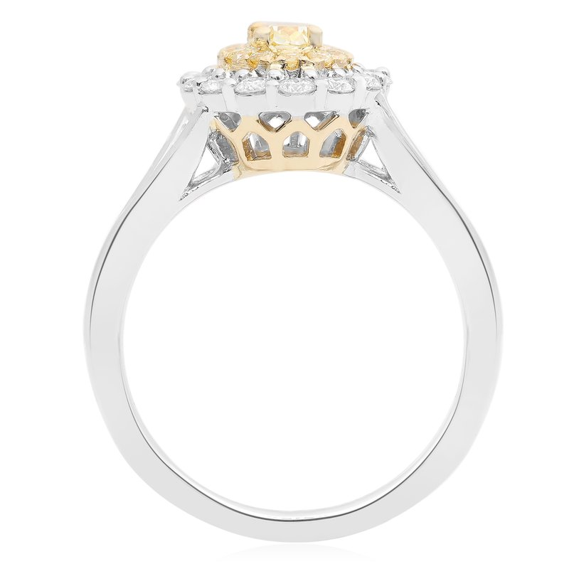 Roman & Jules Oval Two Tone Diamond Ring