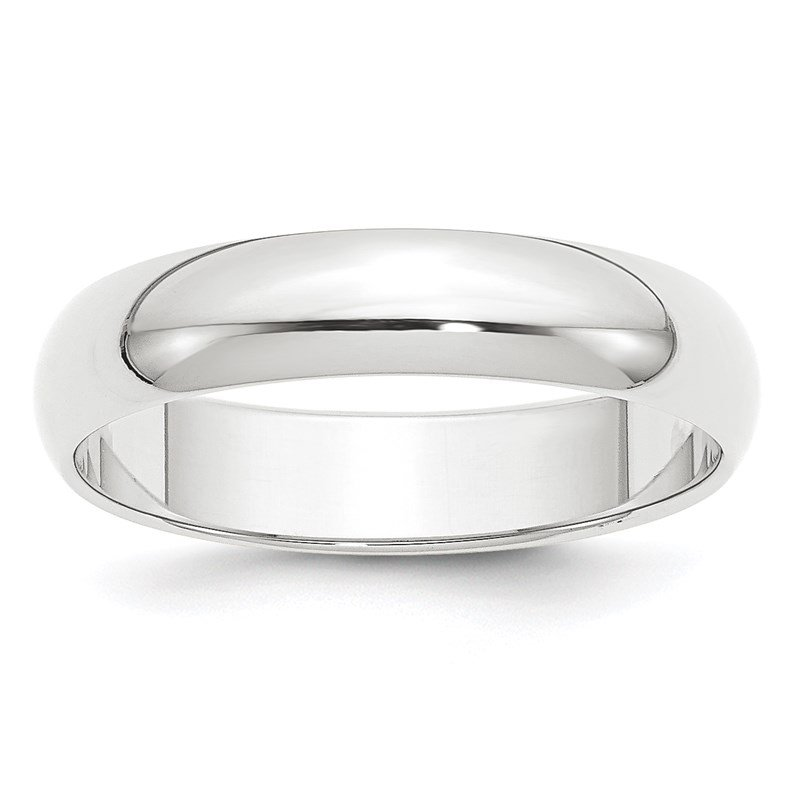 Quality Gold Platinum 5mm Half-Round Wedding Band