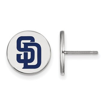 Sterling Silver San Diego Padres MLB Earrings
