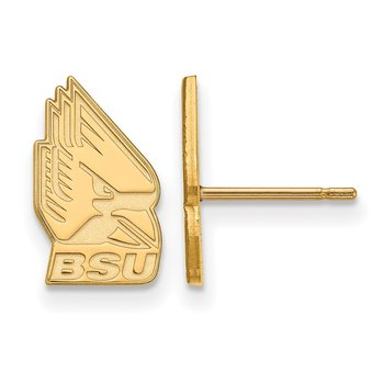 Gold Ball State University NCAA Earrings