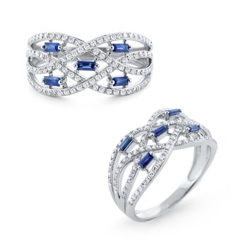 Sapphire & Diamond Ring Set in 14 Kt. Gold