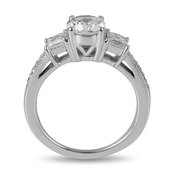 14K WG Diamond Engagement Ring for Mounting