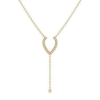 Drizzle Drip Lariat Necklace in 14 KT Yellow Gold Vermeil on Sterling Silver