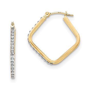 14k Diamond Fascination Hoop Earrings