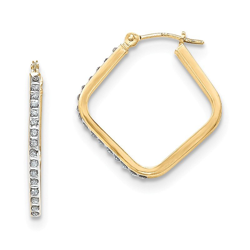 Quality Gold 14k Diamond Fascination Hoop Earrings