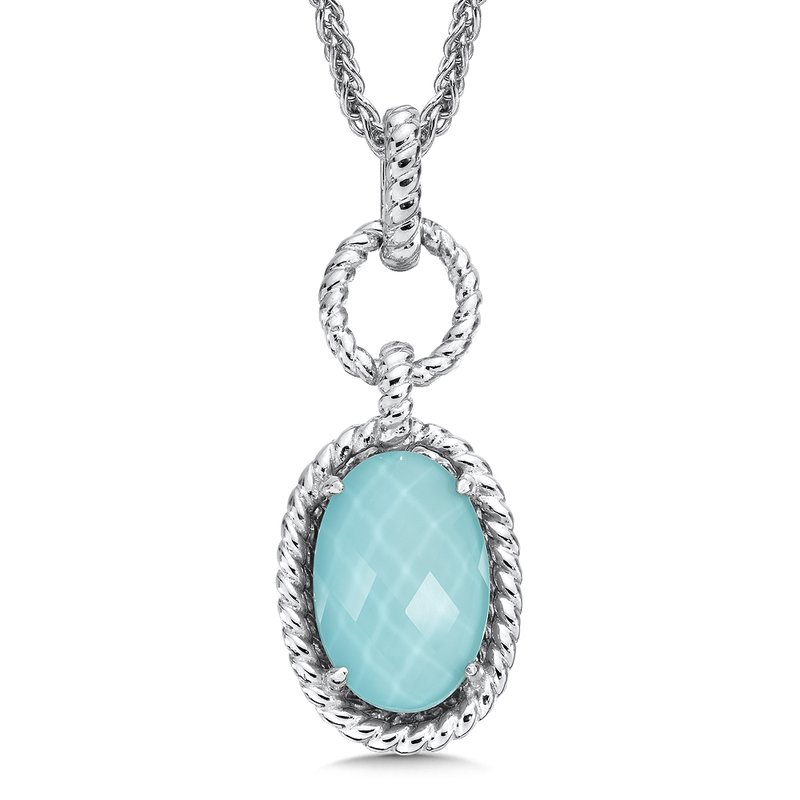 Colore Sg Sterling silver, and turquoise fusion pendant
