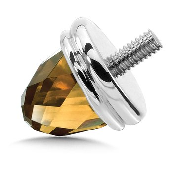 Sterling Silver Honey Citrine Caps