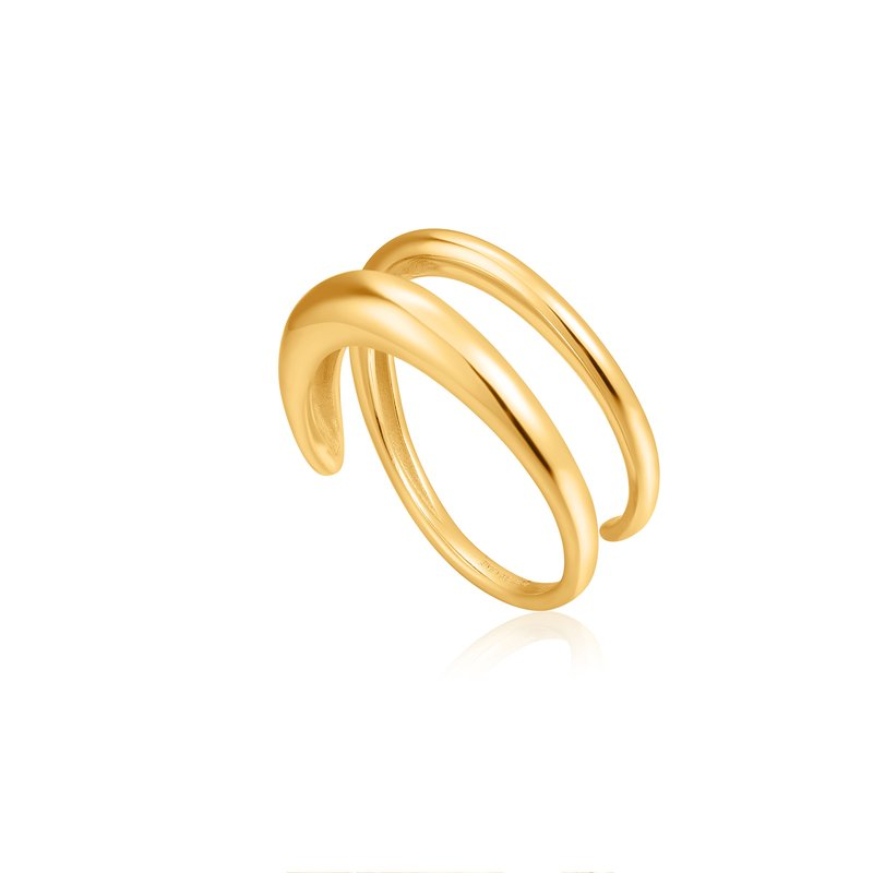 Ania Haie LUXE TWIST ADJUSTABLE RING