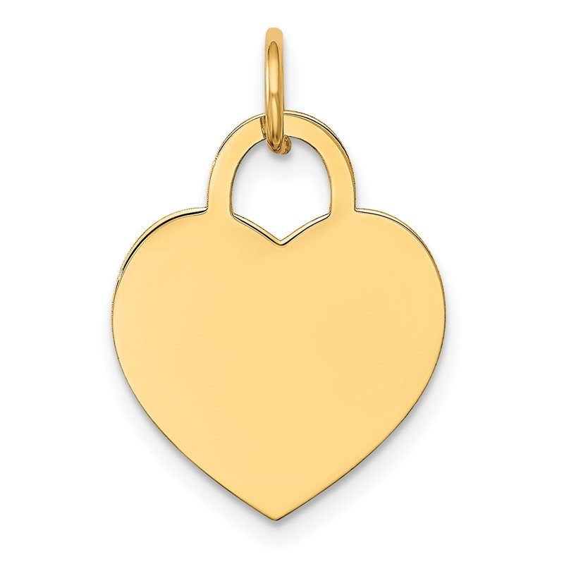 Quality Gold 14k Medium Engravable Heart Charm