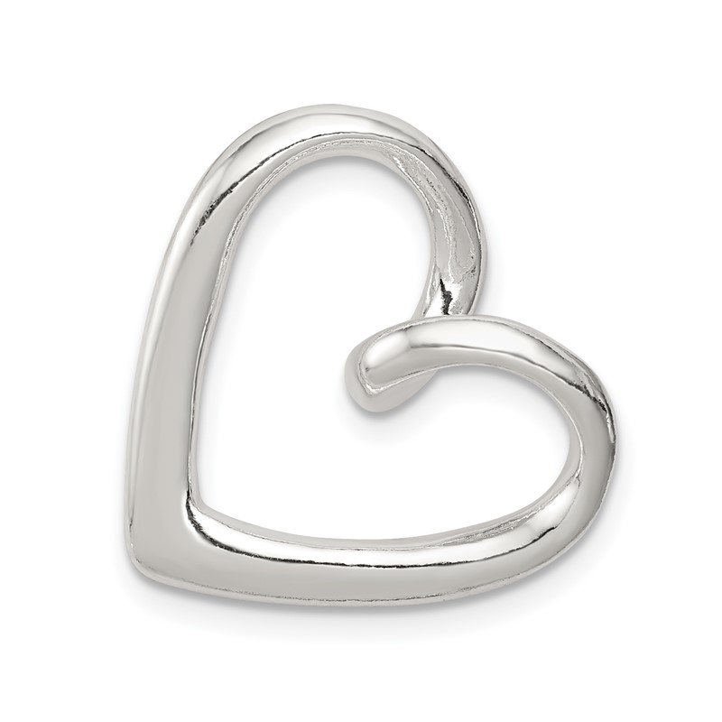 Quality Gold Sterling Silver Heart Slide