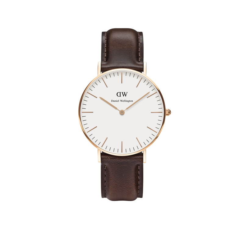 Daniel Wellington Watch. Stock # Classic Bristol Rose Gold 36mm