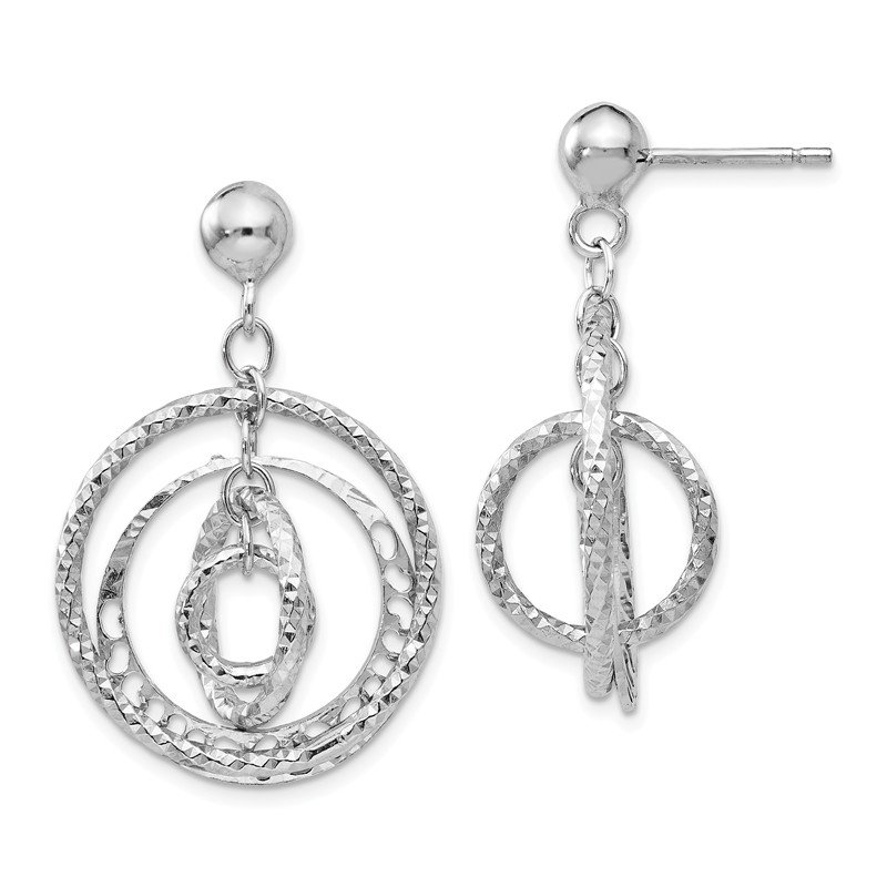 Leslie's Leslie's Sterling Silver Post Dangle Earrings