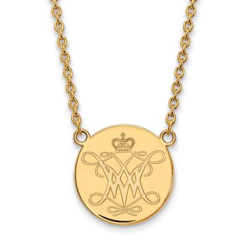 Gold-Plated Sterling Silver College of William & Mary NCAA Pendant
