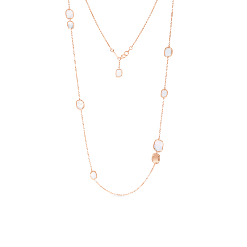 Roberto Coin 18Kt Gold Station Necklace With Mother Of Pearl