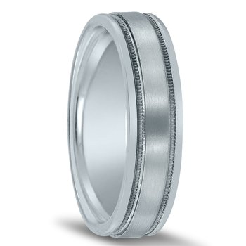 Trending Men's Novell Wedding Band N00151 with Milgrain