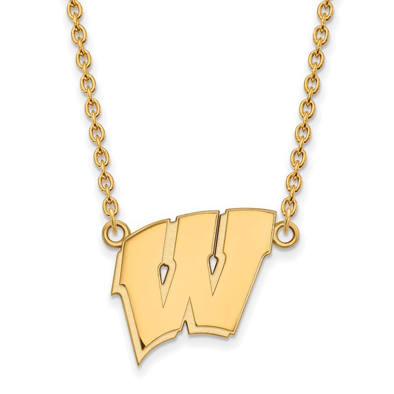 NCAA Gold University of Wisconsin NCAA Necklace
