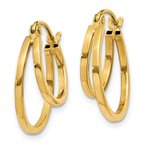 Quality Gold 14K Double Hoop Earrings