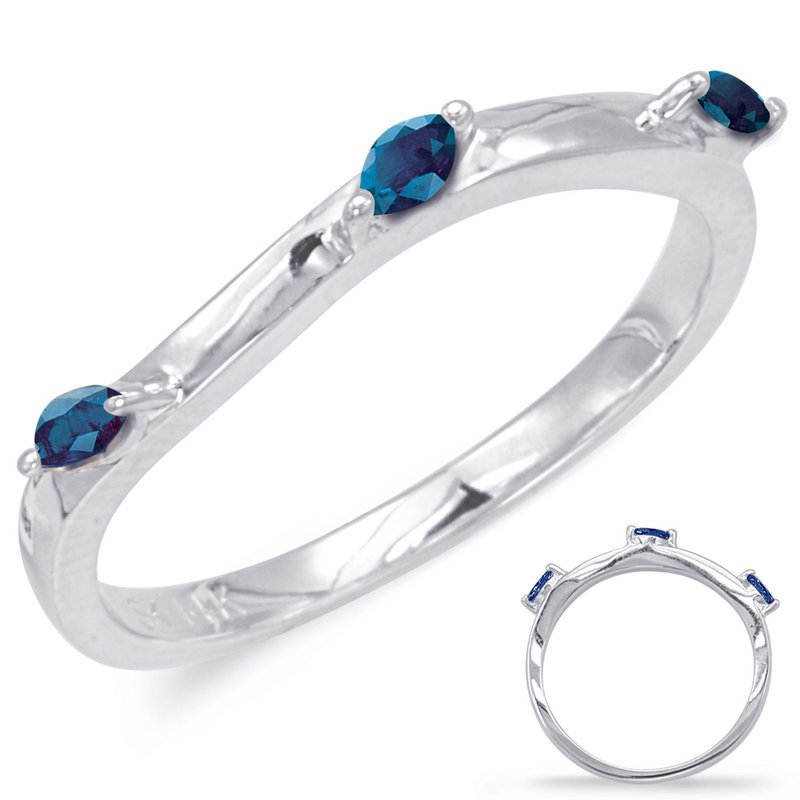S. Kashi & Sons Bridal White Gold Sapphire Matching Band