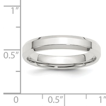 SS 4mm Bevel Edge Size 10 Band