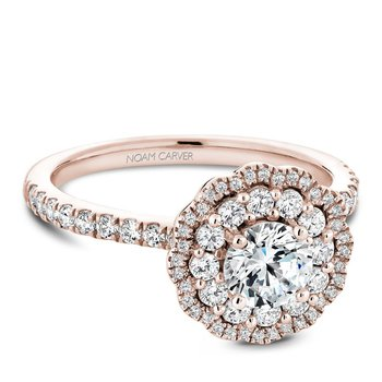 Noam Carver Floral Engagement Ring B142-16RA