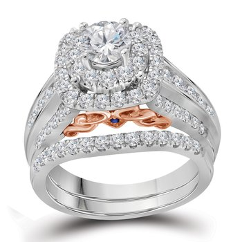 2CTW 14KT 5/8CT-CRD BRIDAL SET