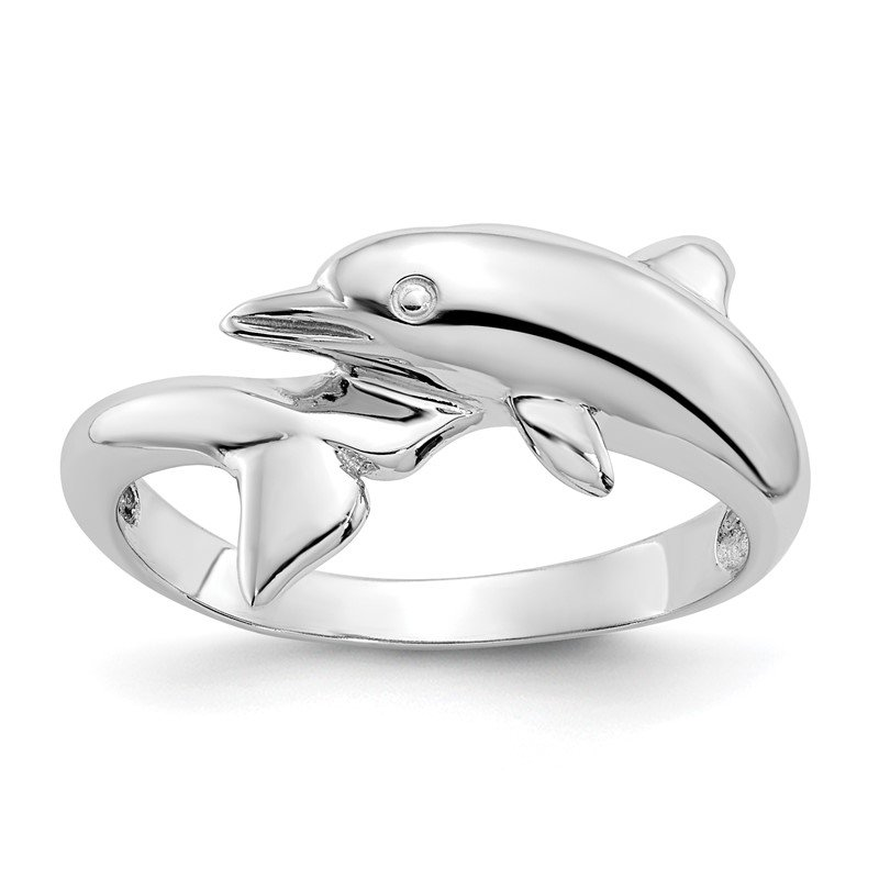 Arizona Diamond Center Collection 14k White Gold Dolphin Ring