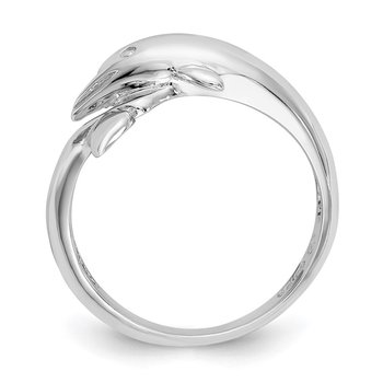 14k White Gold Dolphin Ring