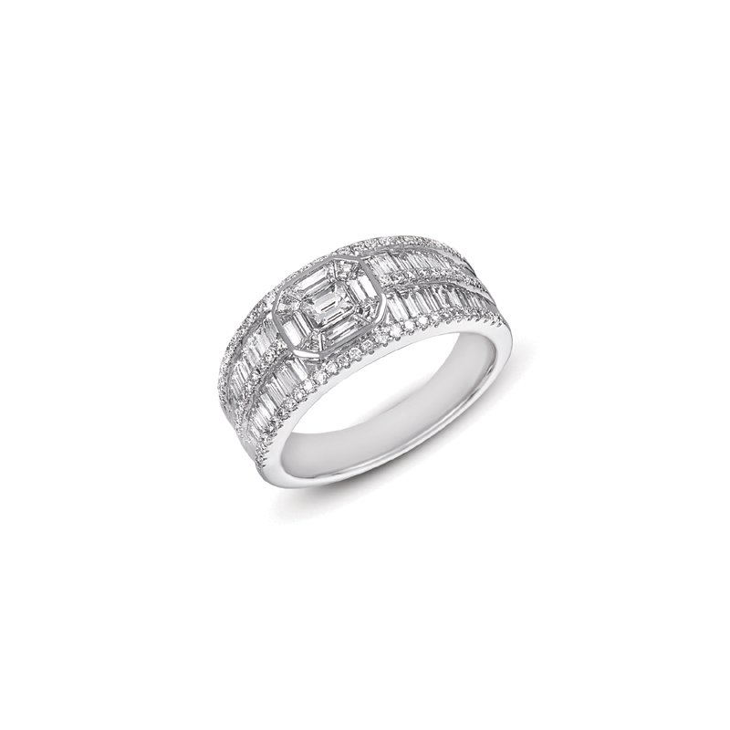 S. Kashi  & Sons White Gold Diamond Band