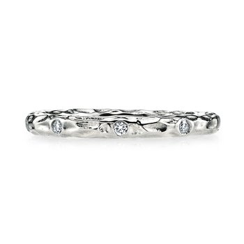 MARS 25682WG Diamond Wedding Band 0.12 ctw