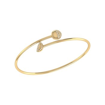 Moon Stages Bangle in 14 KT Yellow Gold Vermeil on Sterling Silver