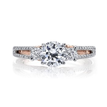 MARS 26085TT Diamond Engagement Ring, 0.66 Ctw.