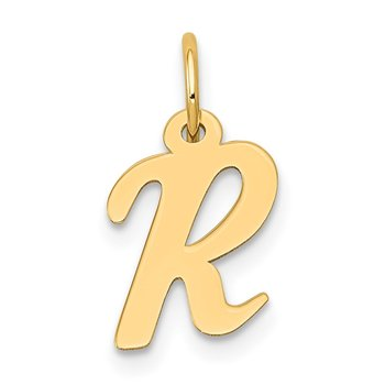 14k Small Script Letter R Initial Charm