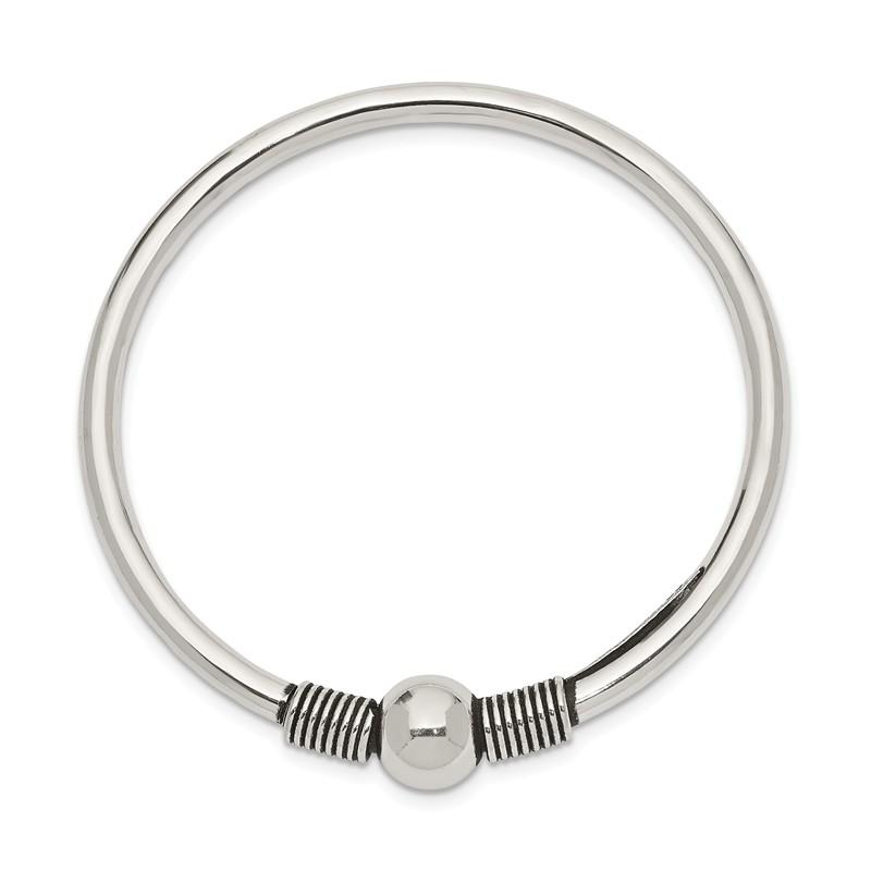 Sterling Silver Flexible Open Catch Childs 2.5 MM Bangle Bracelet