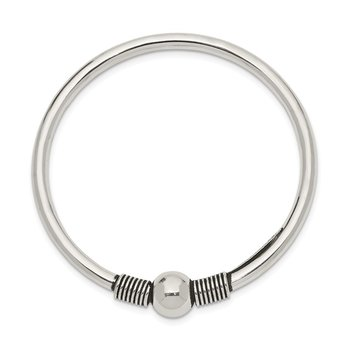 Sterling Silver Pol. Flex Open Catch Child's Bangle