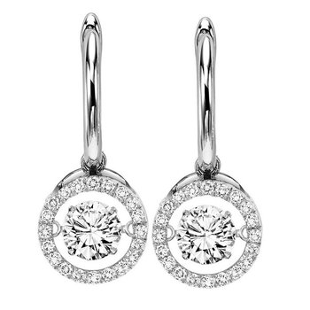14K Diamond Rhythm Of Love Earrings 2 ctw