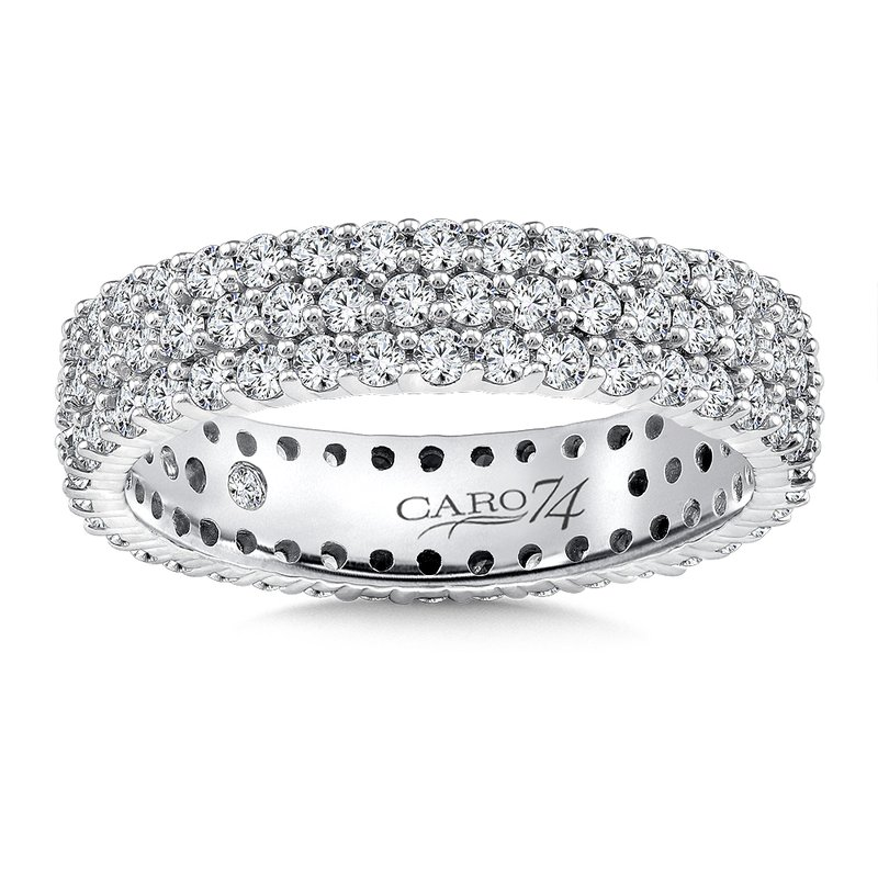 Caro74 Eternity Band (Size 6.5) in 14K White Gold (1.58ct. tw.)