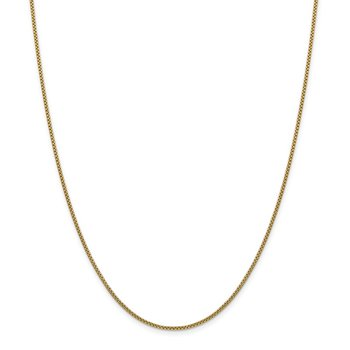 14k 1.5mm Semi-Solid Round Box Chain